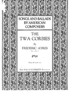 Two Songs for Voice and Piano, Op.5: Two Songs for Voice and Piano by Frederic Ayres