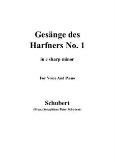 No.1 Wer sich der Einsamkeit ergibt: C sharp minor by Franz Schubert