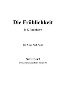 Die Fröhlichkeit, D.262: G Major by Franz Schubert