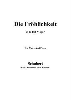 Die Fröhlichkeit, D.262: C Major by Franz Schubert