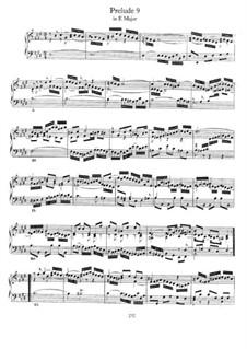 Prelude and Fugue No.9 in E Major, BWV 878: For piano by Johann Sebastian Bach