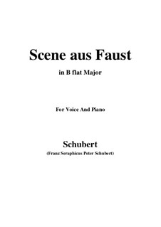 Scene from 'Faust', D.126: B flat Major by Franz Schubert