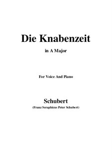 Die Knabenzeit (Boyhood), D.400: A Major by Franz Schubert