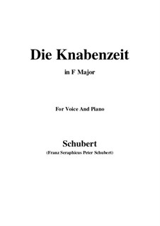 Die Knabenzeit (Boyhood), D.400: F Major by Franz Schubert
