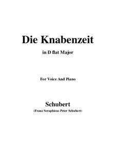 Die Knabenzeit (Boyhood), D.400: D flat Major by Franz Schubert