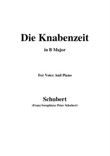Die Knabenzeit (Boyhood), D.400: B Major by Franz Schubert