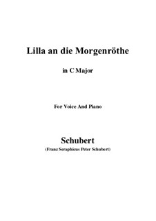 Lilla to the Dawn, D.273: C Major by Franz Schubert