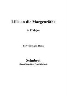 Lilla to the Dawn, D.273: E Major by Franz Schubert