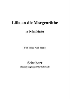 Lilla to the Dawn, D.273: D flat Major by Franz Schubert