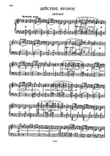 The Demon: Act II, Scene IV, for voices and piano by Anton Rubinstein