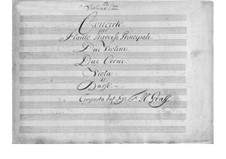 Concerto for Flute and Orchestra in D Major: Parts by Friedrich Hartmann Graf