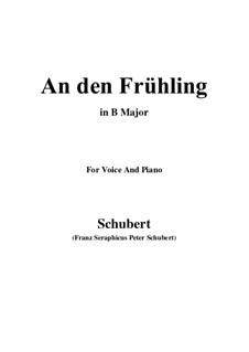 An den Frühling (To Spring), D.587: B Major by Franz Schubert