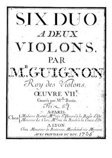 Duos for Two Violins, Op.7-9: Duos for Two Violins by Jean-Pierre Guignon