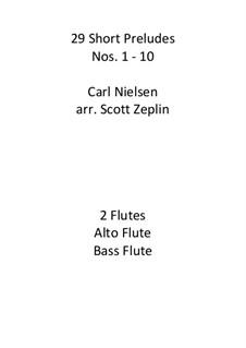 29 Short Preludes, Op.51: 29 Short Preludes by Carl Nielsen