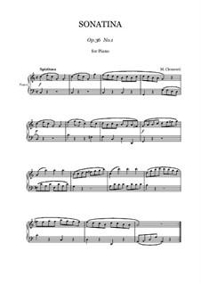 Sonatina No.1: For piano by Muzio Clementi