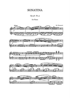 Sonatina No.3: For piano by Muzio Clementi