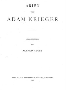 New Arias: New Arias by Adam Krieger