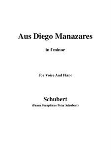 Aus Diego Manazares, D.458: F minor by Franz Schubert