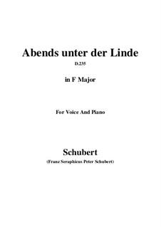 Abends unter der Linde (Evening Beneath the Linden Tree), D.235: F Major by Franz Schubert