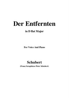 Der Entfernten (To the Distant Beloved), D.350: D flat Major by Franz Schubert
