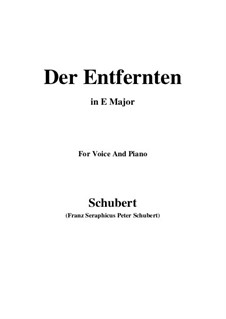 Der Entfernten (To the Distant Beloved), D.350: E Major by Franz Schubert