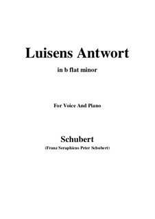 Luisens Antwort (Louisa's Answer), D.319: B flat minor by Franz Schubert