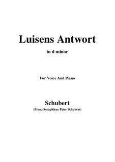 Luisens Antwort (Louisa's Answer), D.319: D minor by Franz Schubert