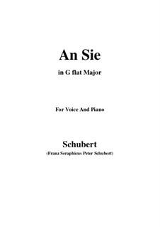 An Sie (To Her), D.288: G flat Major by Franz Schubert