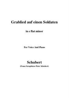 Grablied auf einen Soldaten (Dirge for a Soldier), D.454: E flat minor by Franz Schubert