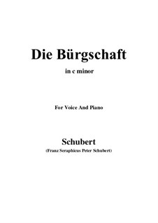 Die Bürgschaft (The Bond), D.246: C minor by Franz Schubert