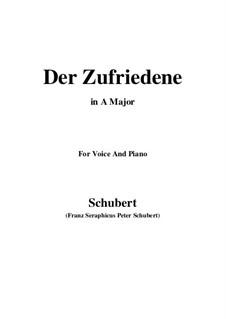 Der Zufriedene (The Contented Man), D.320: A Major by Franz Schubert