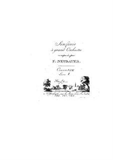 Symphonies for Orchestra, Op.12: Volume I – parts by Franz Christoph Neubauer