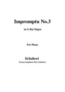Four Impromptus for Piano, D.899 Op.90: Impromptu No.3 by Franz Schubert