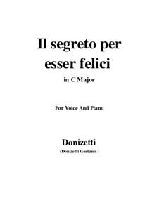 Lucrezia Borgia: Il segreto per esser felici (C Major) by Gaetano Donizetti