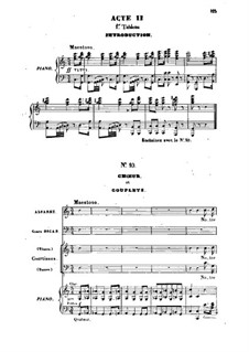 Barbe-bleue (Bluebeard): Act II, scene I, for voices and piano by Jacques Offenbach