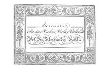 Serenade for String Quartet, BI 400: Serenade for String Quartet by Alessandro Rolla