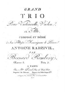Grand String Trio in F Major, Op.8: Viola part by Bernhard Romberg