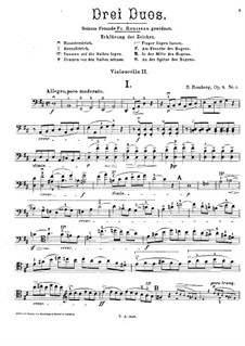 Three Duos for Two Cellos, Op.9: Cello II part by Bernhard Romberg