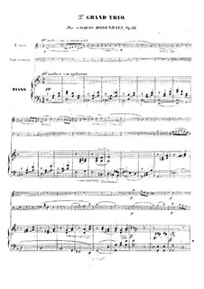 Piano Trio No.2 in D Minor, Op.32: Full score, parts by Jacob Rosenhain