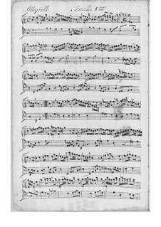 Three Sonatas for Harpsichord: Complete set by Johann Adolph Scheibe