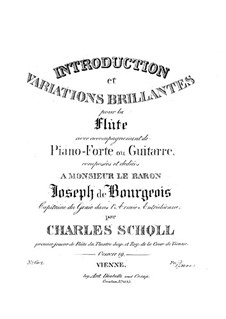 Introduction and Brilliant Variations for Flute and Piano (or Guitar), Op.19: Piano part by Karol Scholl