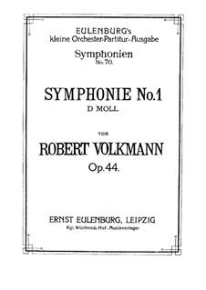Symphony No.1 in D Minor, Op.44: Symphony No.1 in D Minor by Robert Volkmann