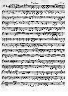 Three Brilliant Quartet for Flute and Strings, Op.19: Violin part by Leopold Hirsch