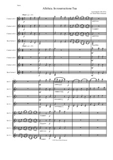 Alleluia In Resurrectione Tua: For clarinet octet or clarinet choir (B flats and Basses) by Jacob Handl