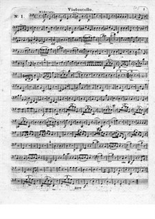 Three Brilliant Quartet for Flute and Strings, Op.19: Cello part by Leopold Hirsch