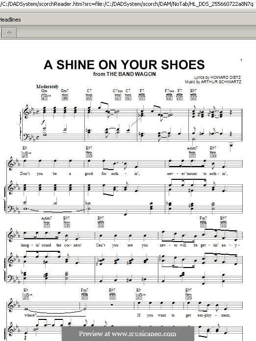 A Shine On Your Shoes: For voice and piano (or guitar) by Arthur Schwartz