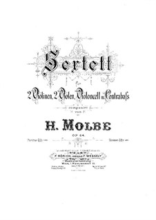 String Sextet, Op.64: Viola I part by Heinrich Molbe