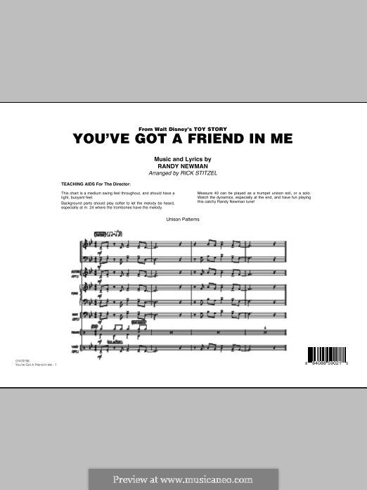 You've Got a Friend in Me (Wheezy's Version) from Toy Story 2: Full score by Randy Newman
