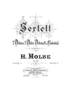 String Sextet, Op.64: Viola II part by Heinrich Molbe