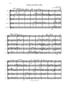 Amen Amen dico vobis (Truly truly I say to you): For flute quintet by Giaches de Wert